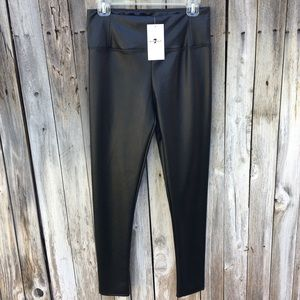 7 For All Mankind Faux Leather Leggings Black M